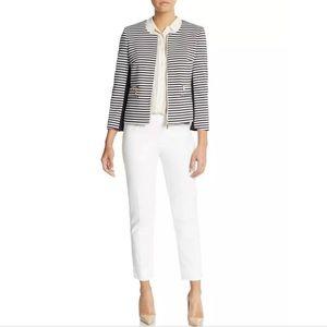 Ivanka Trump Stripe Zip Up Blazer Jacket Size 10